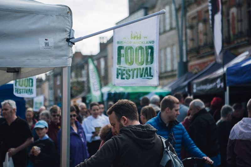 Bishop Auckland Food Festival Flag