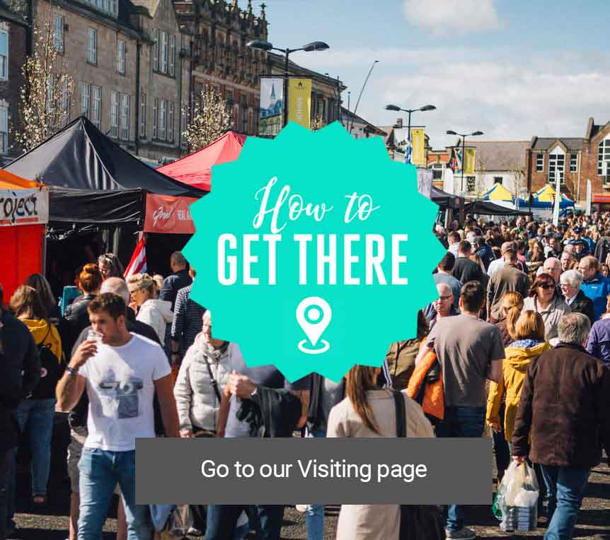 How to get to the Bishop Auckland Food Festival 2018