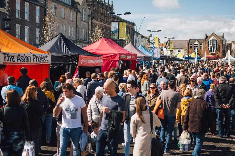 Food Festival News - Bishop Auckland Food Festival Street Food - Vendor Crowd
