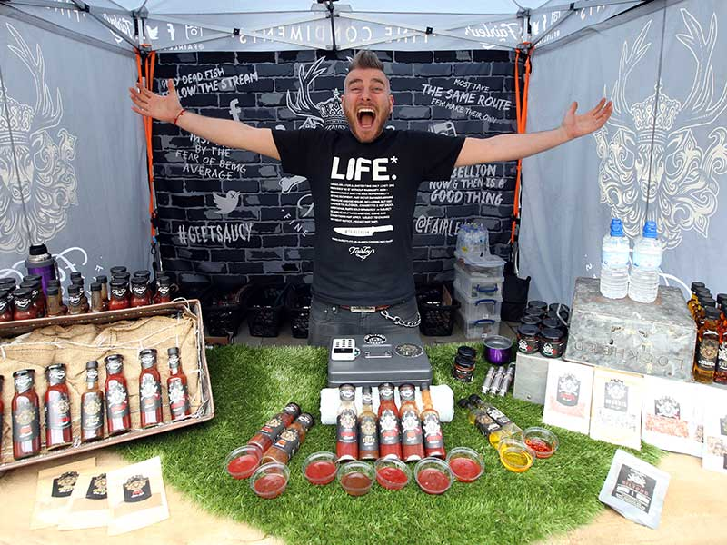 Life Sauces at The Bishop Auckland Food Festival