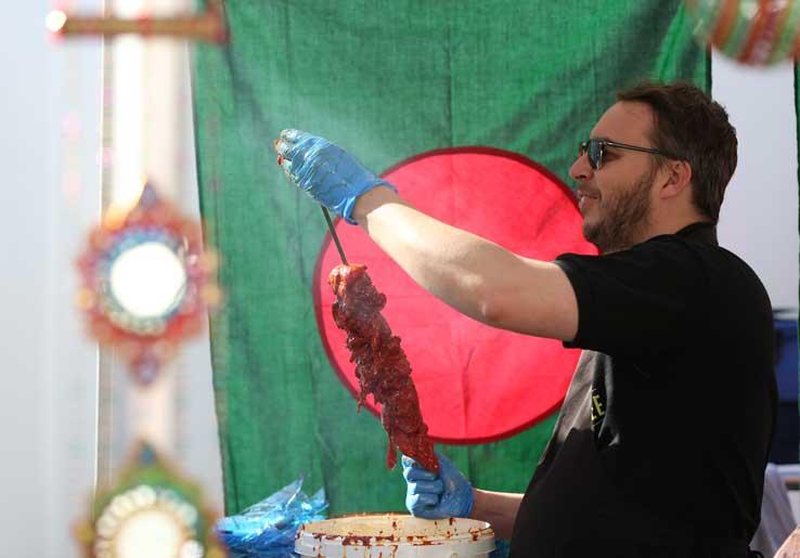 Skewers at Bishop Auckland Food Festival