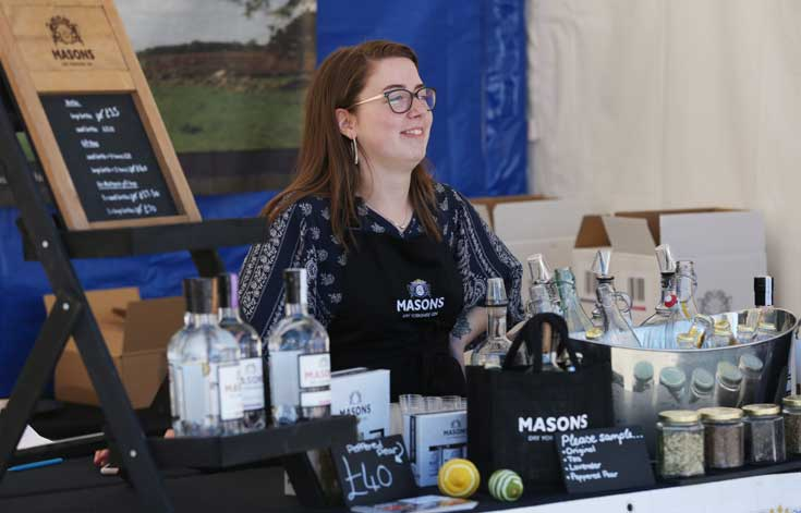 Masons Gin at Bishop Auckland Food Festival