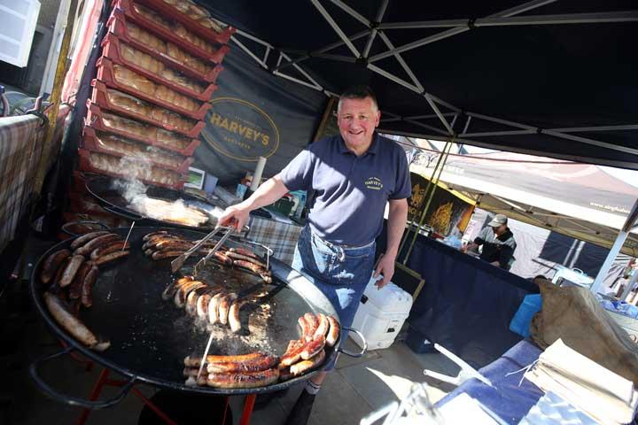 Sausages at Bishop Auckland Food Festival