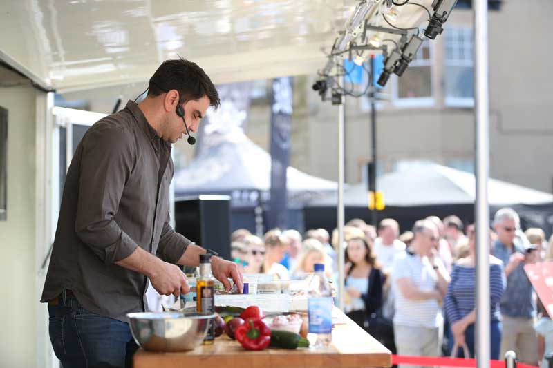 Bishop Auckland Food Festival 2018 - Live Cookery Demonstrations - Chris Bavin