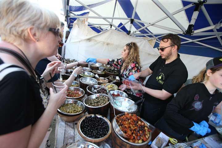 Olives at Bishop Auckland Food Festival