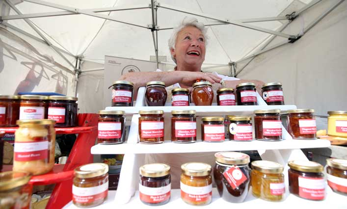 Jams at Bishop Auckland Food Festival