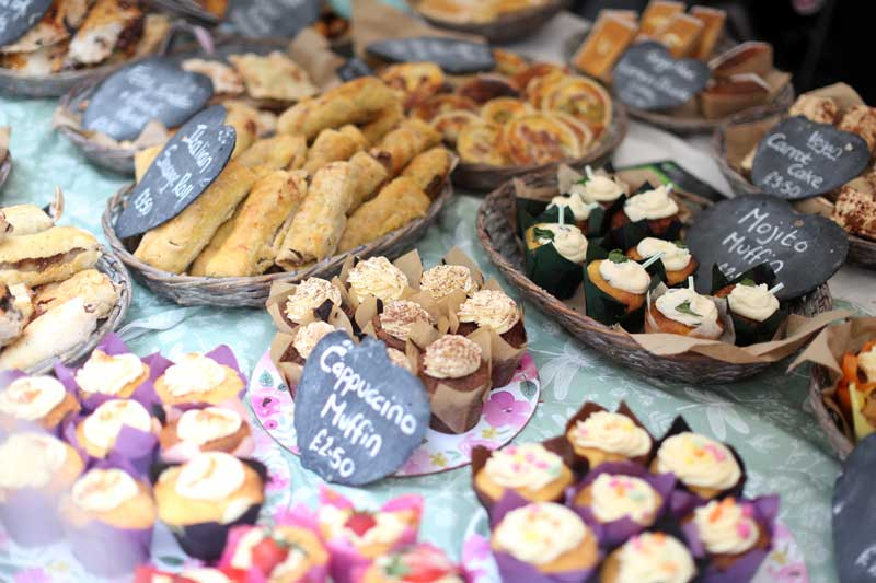 Cakes at Bishop Auckland Food Festival
