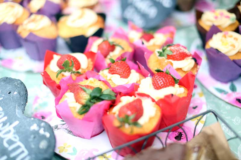 Strawberry Cakes at Bishop Auckland Food Festival
