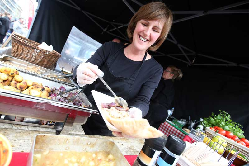 Roasties at The Bishop Auckland Food Festival