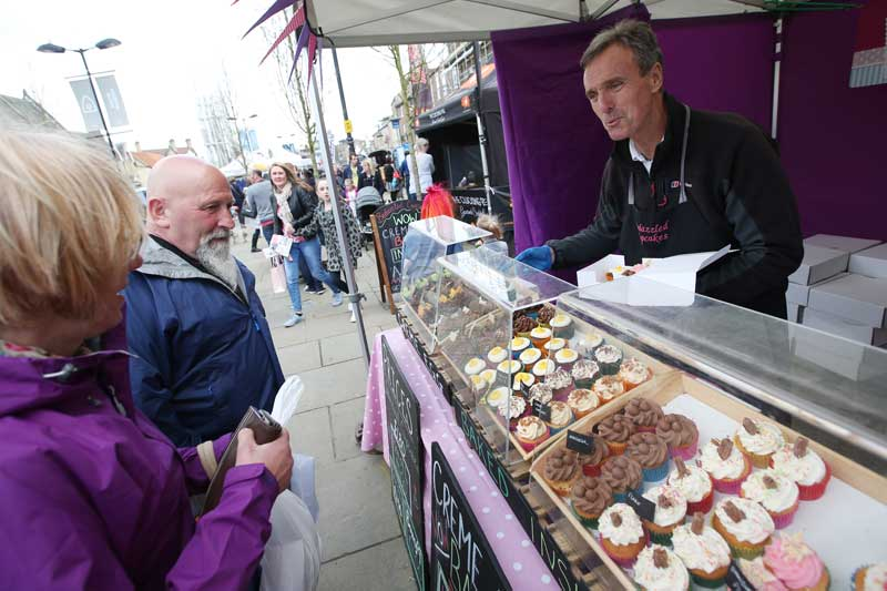 Cakes at The Bishop Auckland Food Festival