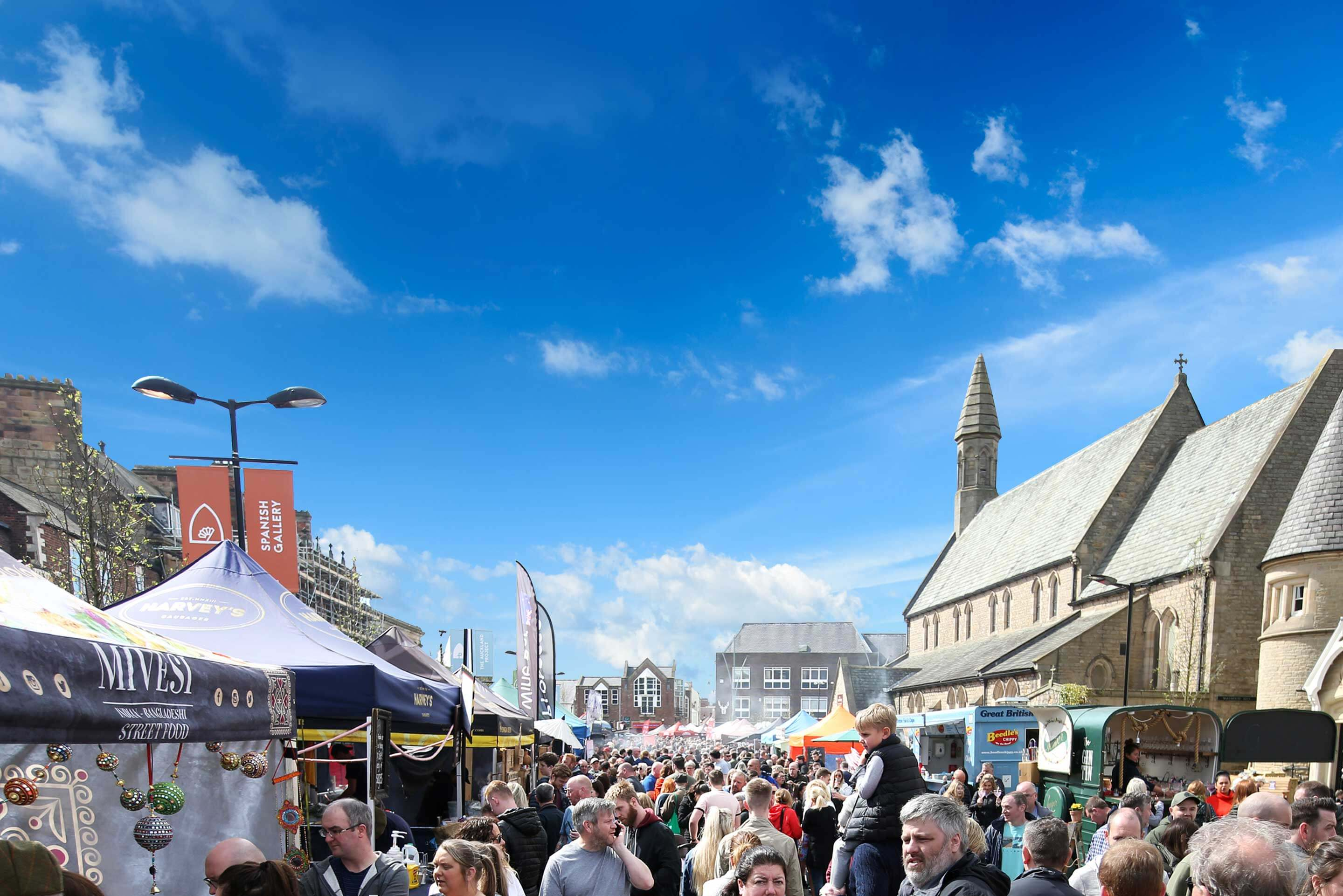 Bishop Auckland Food Festival Crowd