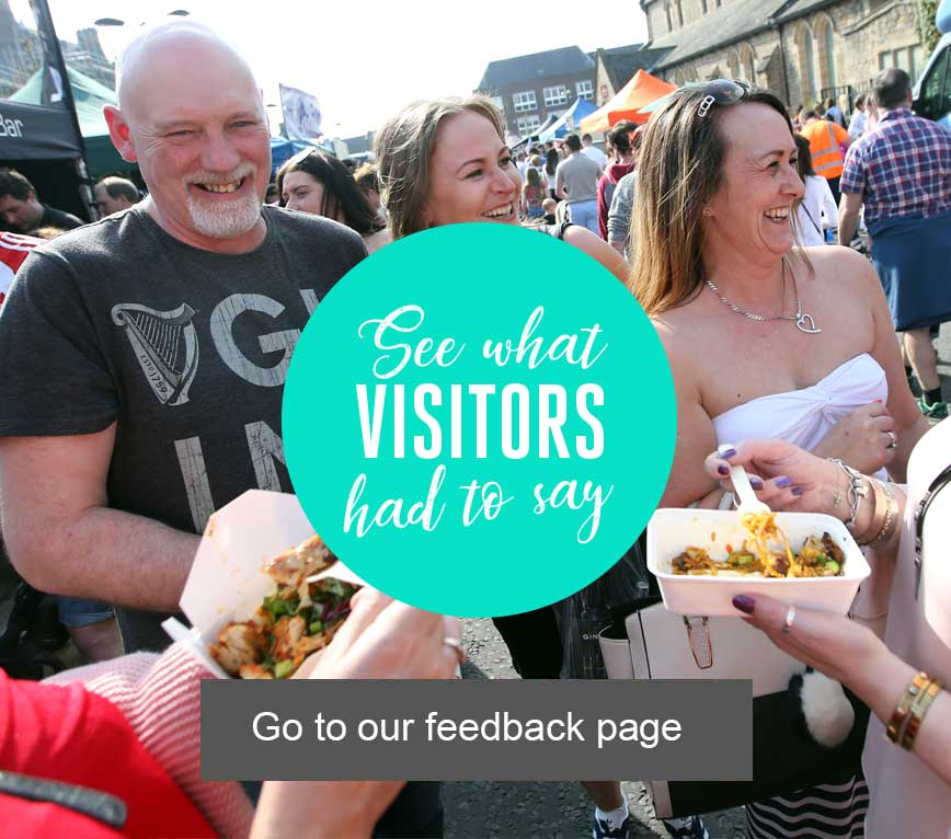 See what our Visitors had to say at The Bishop Auckland Food Festival