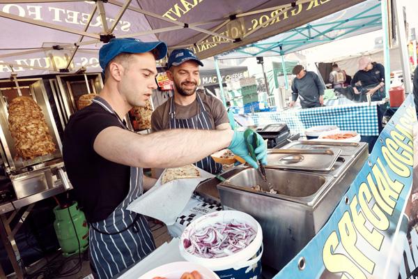 Trader at Bishop Auckland Food festival