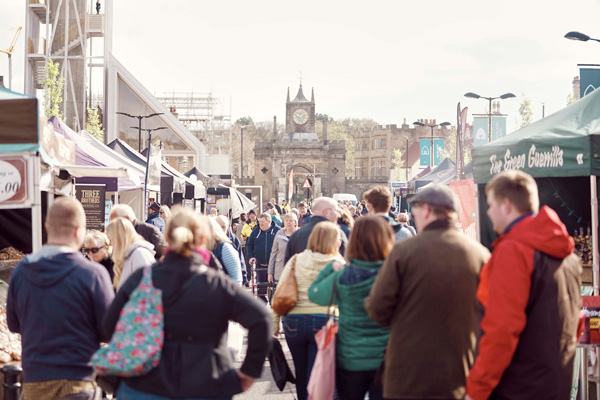 Crowd at Bishop Auckland Food Festival