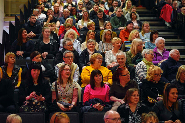 Audience at The Cookery Theatre Bishop Auckland Food Festival