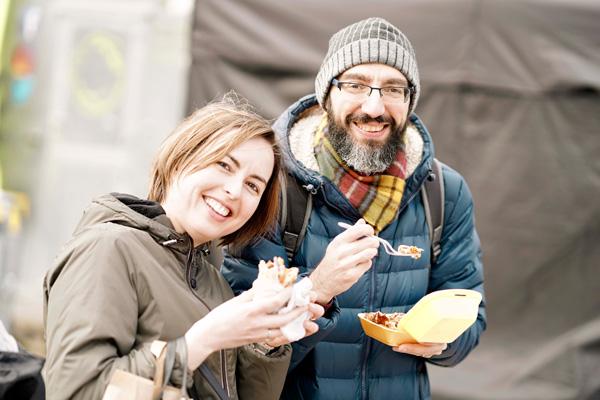 Happy Visitors at Bishop Auckland Food Festival