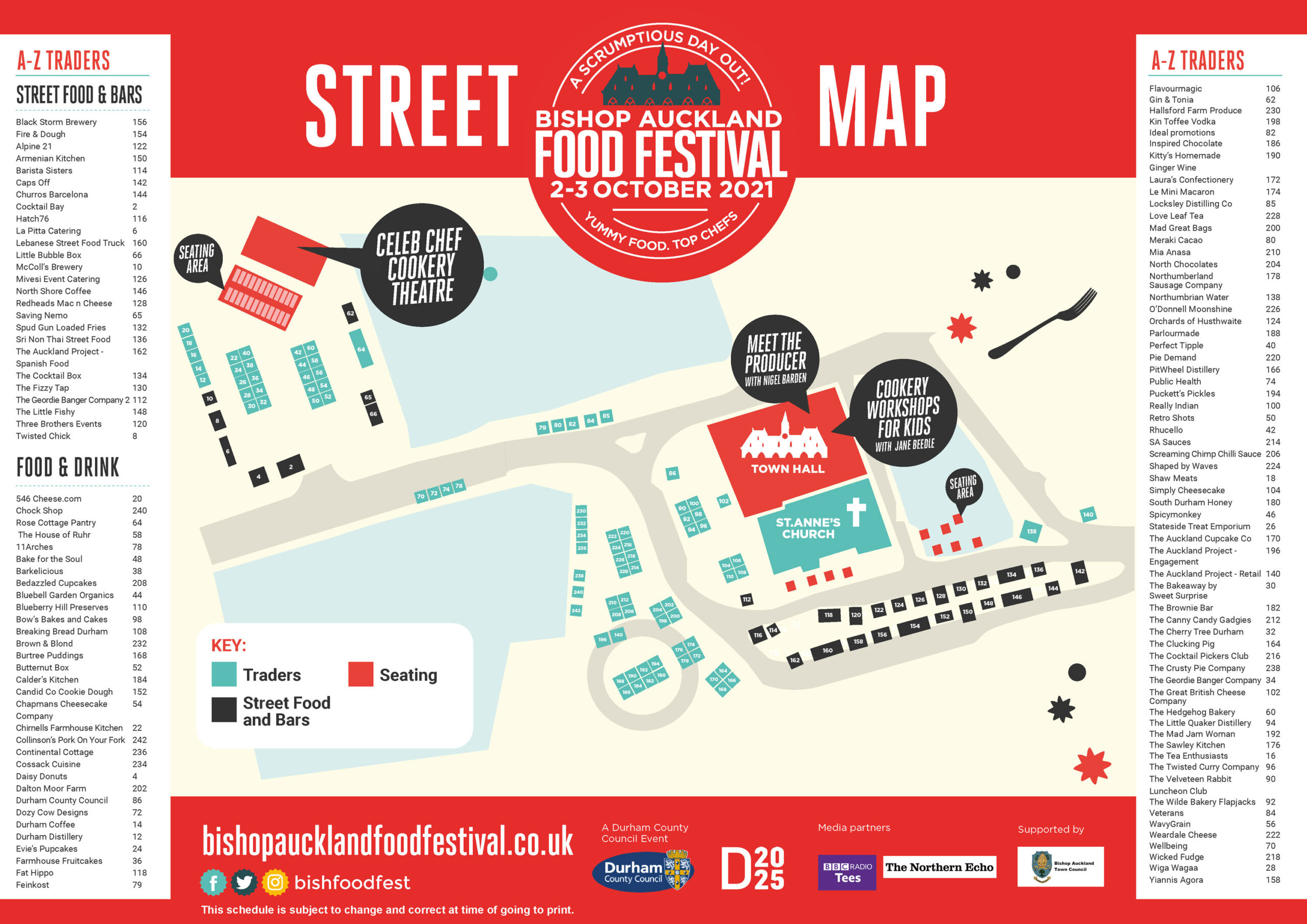 The Street Map for the Festival 2021