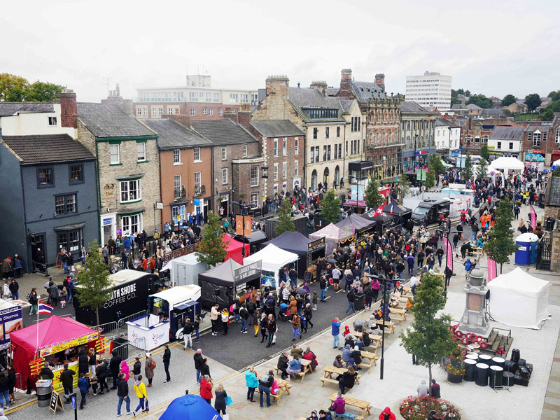 Overview of Bishop Auckland Food Festival 2021